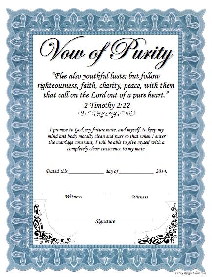 Purity pledge
